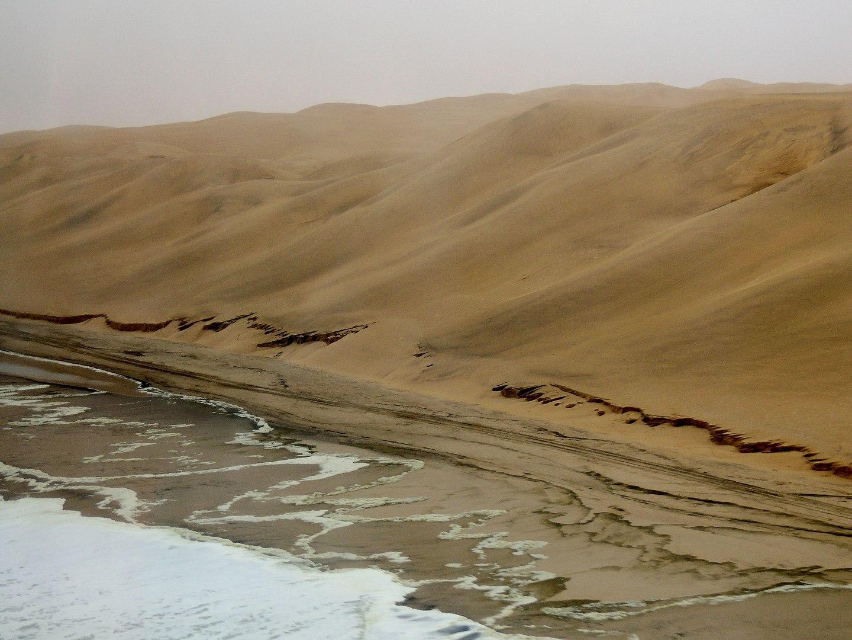 Namib desert and ocean