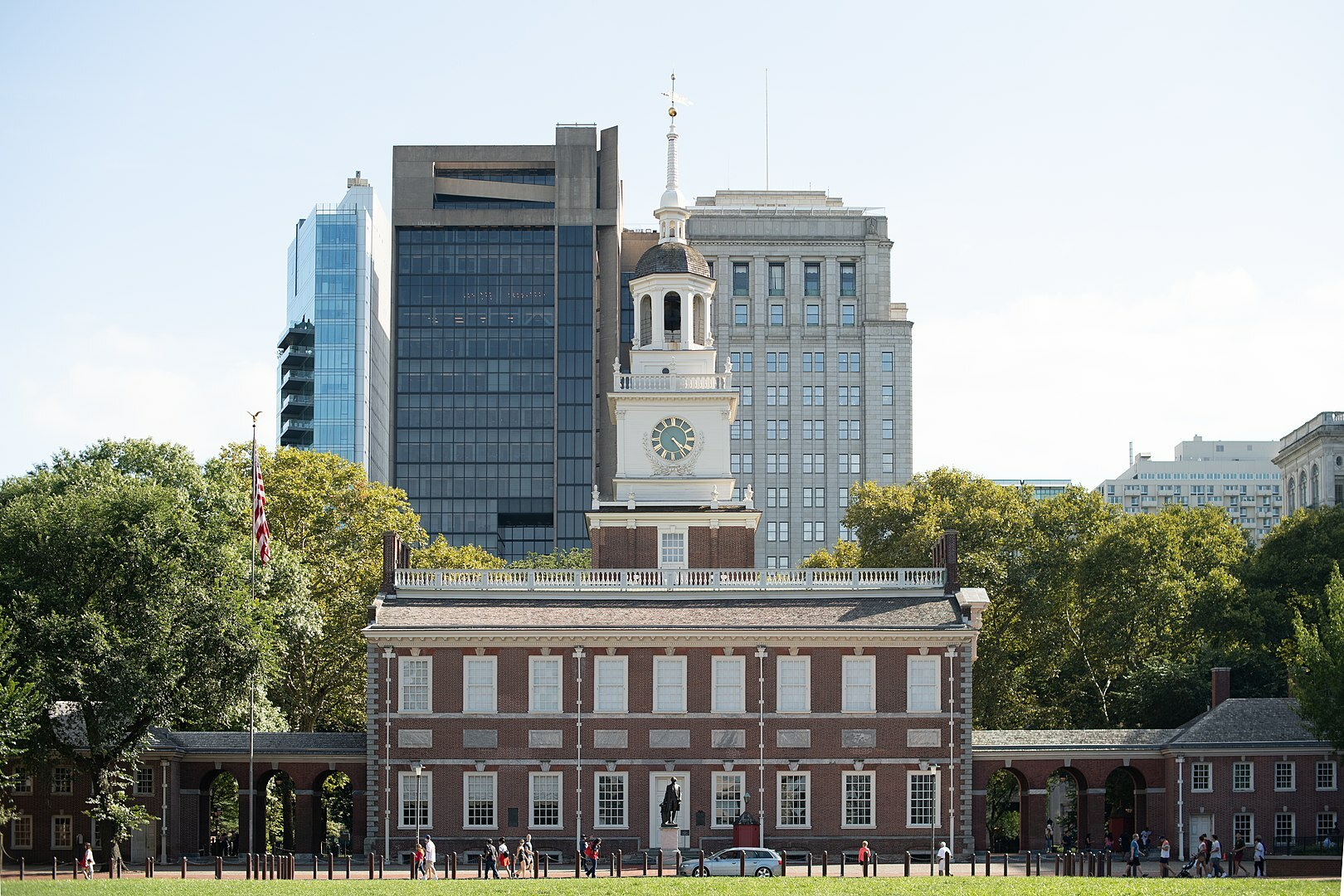 The north side of the Independence Hall