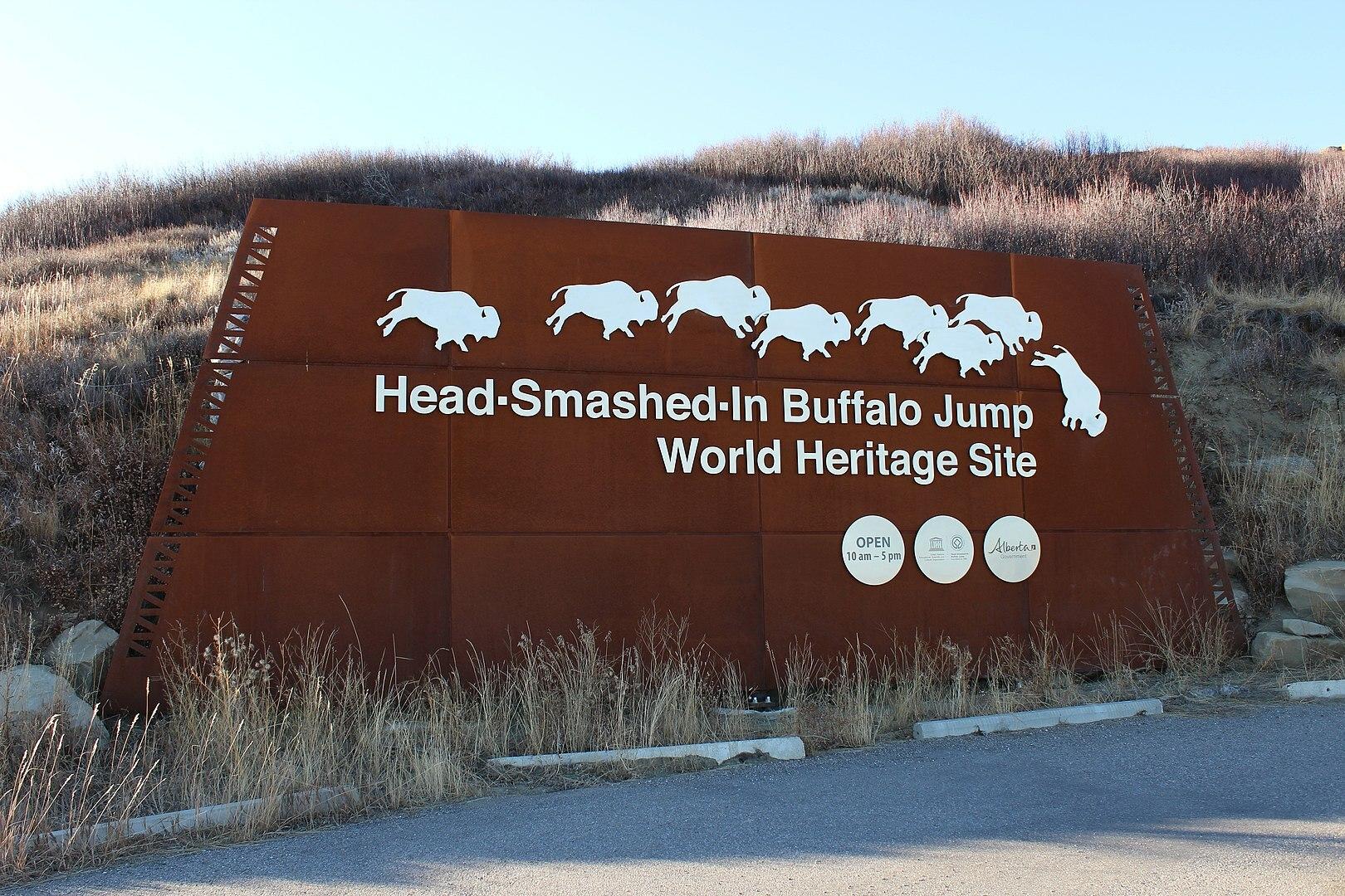 Head-Smashed-In Buffalo Jump entrance