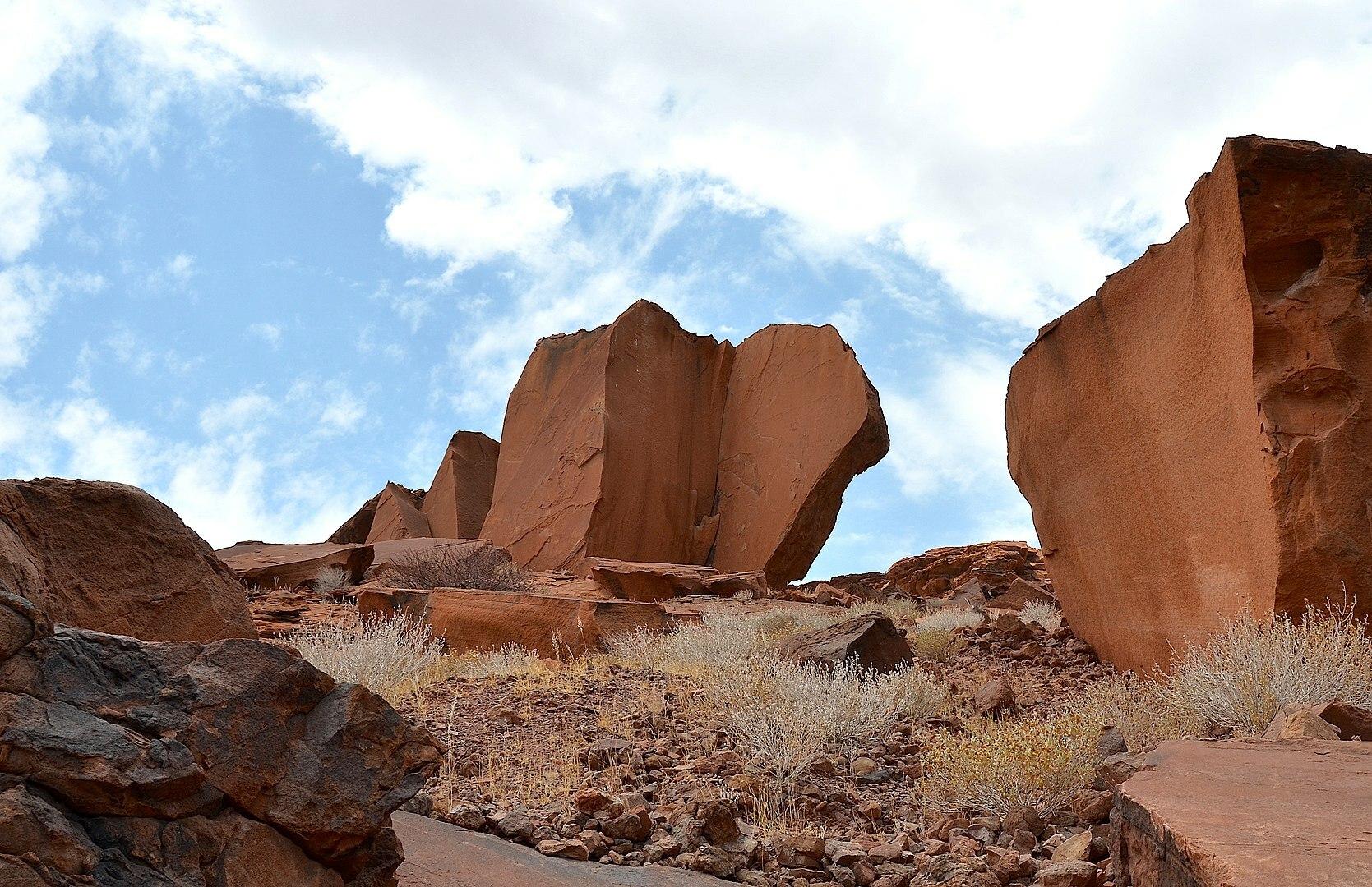 Rock formations at Twyfelfontein
