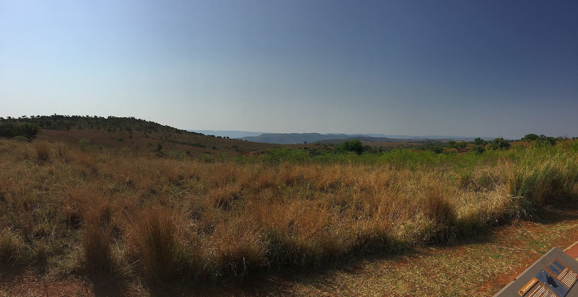 View of Cradle of Humankind from the visitors centre
