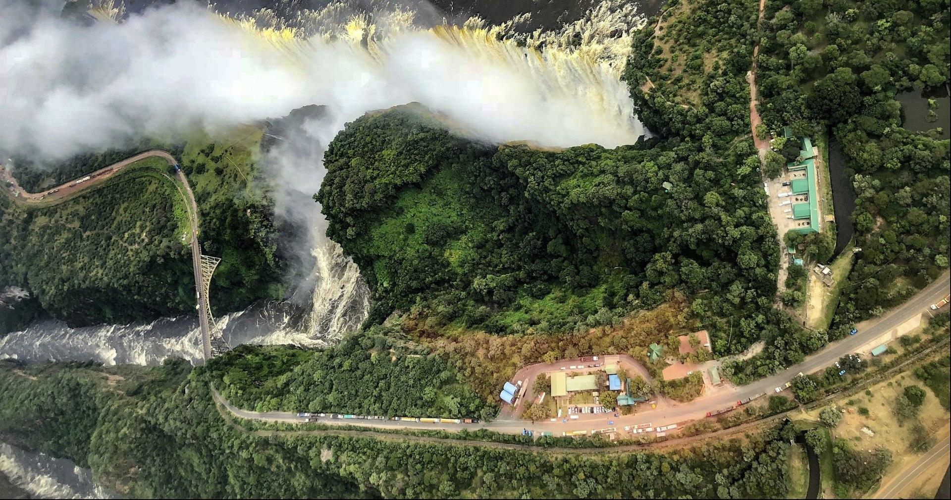 Victoria Falls Bridge aerial view