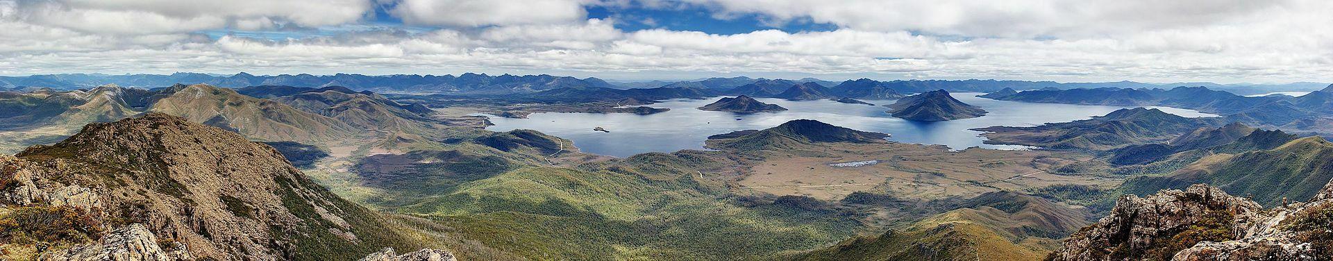 Lake Pedder from Mount Eliza