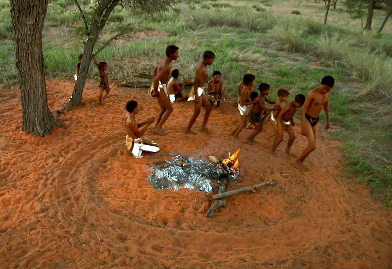 Dancing around fire.ǂKhomani Cultural Landscape